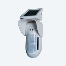 Wireless solar dual infrared & MW outdoor detector